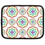 Geometric Circles Seamless Rainbow Colors Geometric Circles Seamless Pattern On White Background Netbook Case (XL)