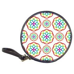 Geometric Circles Seamless Rainbow Colors Geometric Circles Seamless Pattern On White Background Classic 20 Cd Wallets by Simbadda