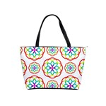 Geometric Circles Seamless Rainbow Colors Geometric Circles Seamless Pattern On White Background Shoulder Handbags