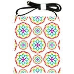 Geometric Circles Seamless Rainbow Colors Geometric Circles Seamless Pattern On White Background Shoulder Sling Bags