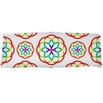 Geometric Circles Seamless Rainbow Colors Geometric Circles Seamless Pattern On White Background Body Pillow Case (Dakimakura)