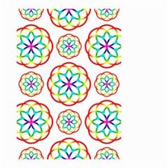 Geometric Circles Seamless Rainbow Colors Geometric Circles Seamless Pattern On White Background Small Garden Flag (two Sides) by Simbadda