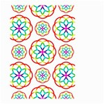 Geometric Circles Seamless Rainbow Colors Geometric Circles Seamless Pattern On White Background Small Garden Flag (Two Sides)