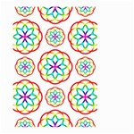 Geometric Circles Seamless Rainbow Colors Geometric Circles Seamless Pattern On White Background Large Garden Flag (Two Sides)