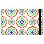 Geometric Circles Seamless Rainbow Colors Geometric Circles Seamless Pattern On White Background Apple iPad 3/4 Flip Case
