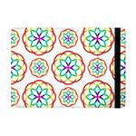 Geometric Circles Seamless Rainbow Colors Geometric Circles Seamless Pattern On White Background Apple iPad Mini Flip Case