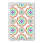 Geometric Circles Seamless Rainbow Colors Geometric Circles Seamless Pattern On White Background Apple iPad Mini Case (White)