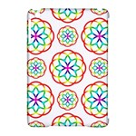 Geometric Circles Seamless Rainbow Colors Geometric Circles Seamless Pattern On White Background Apple iPad Mini Hardshell Case (Compatible with Smart Cover)