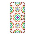 Geometric Circles Seamless Rainbow Colors Geometric Circles Seamless Pattern On White Background Apple iPod Touch 5 Hardshell Case with Stand