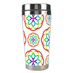 Geometric Circles Seamless Rainbow Colors Geometric Circles Seamless Pattern On White Background Stainless Steel Travel Tumblers
