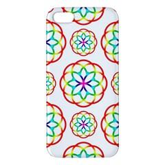 Geometric Circles Seamless Rainbow Colors Geometric Circles Seamless Pattern On White Background Iphone 5s/ Se Premium Hardshell Case by Simbadda