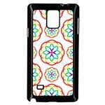 Geometric Circles Seamless Rainbow Colors Geometric Circles Seamless Pattern On White Background Samsung Galaxy Note 4 Case (Black)