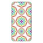 Geometric Circles Seamless Rainbow Colors Geometric Circles Seamless Pattern On White Background iPhone 6 Plus/6S Plus TPU Case