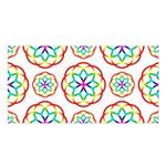 Geometric Circles Seamless Rainbow Colors Geometric Circles Seamless Pattern On White Background Satin Shawl