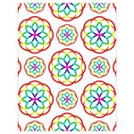 Geometric Circles Seamless Rainbow Colors Geometric Circles Seamless Pattern On White Background Drawstring Bag (Large)