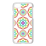 Geometric Circles Seamless Rainbow Colors Geometric Circles Seamless Pattern On White Background Apple iPhone 7 Seamless Case (White)