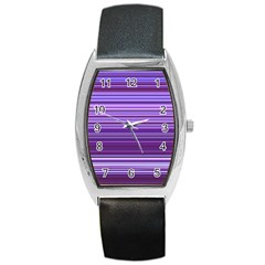 Stripe Colorful Background Barrel Style Metal Watch by Simbadda