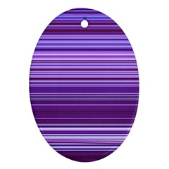 Stripe Colorful Background Oval Ornament (two Sides) by Simbadda