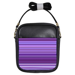 Stripe Colorful Background Girls Sling Bags by Simbadda