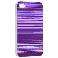Stripe Colorful Background Apple Iphone 4/4s Seamless Case (white) by Simbadda
