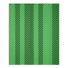 Green Herringbone Pattern Background Wallpaper Shower Curtain 60  X 72  (medium)  by Simbadda