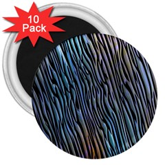 Abstract Background Wallpaper 3  Magnets (10 Pack)  by Simbadda