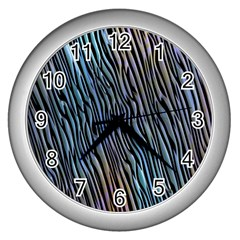 Abstract Background Wallpaper Wall Clocks (silver)  by Simbadda