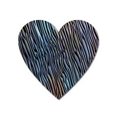 Abstract Background Wallpaper Heart Magnet by Simbadda