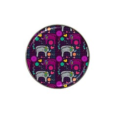 Colorful Elephants Love Background Hat Clip Ball Marker (10 Pack) by Simbadda