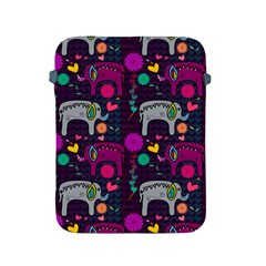 Colorful Elephants Love Background Apple Ipad 2/3/4 Protective Soft Cases by Simbadda