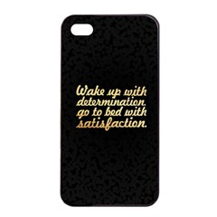 Posterwake Up With Determination      Inspirational Quotes Apple Iphone 4/4s Seamless Case (black) by chirag505p
