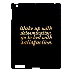 PosterWake up with determination......inspirational quotes Apple iPad 3/4 Hardshell Case by chirag505p