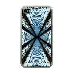 Dimension Metal Abstract Obtained Through Mirroring Apple Iphone 4 Case (clear) by Simbadda