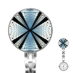 Dimension Metal Abstract Obtained Through Mirroring Stainless Steel Nurses Watch