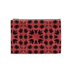 Digital Computer Graphic Seamless Patterned Ornament In A Red Colors For Design Cosmetic Bag (medium)  by Simbadda
