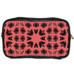 Digital Computer Graphic Seamless Patterned Ornament In A Red Colors For Design Toiletries Bags 2 Side by Simbadda