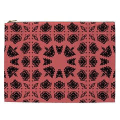 Digital Computer Graphic Seamless Patterned Ornament In A Red Colors For Design Cosmetic Bag (xxl)  by Simbadda
