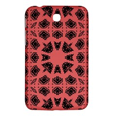 Digital Computer Graphic Seamless Patterned Ornament In A Red Colors For Design Samsung Galaxy Tab 3 (7 ) P3200 Hardshell Case  by Simbadda