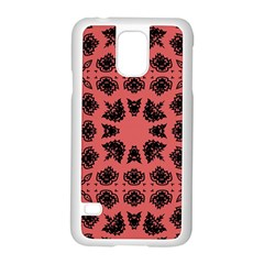 Digital Computer Graphic Seamless Patterned Ornament In A Red Colors For Design Samsung Galaxy S5 Case (white) by Simbadda