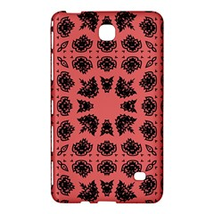 Digital Computer Graphic Seamless Patterned Ornament In A Red Colors For Design Samsung Galaxy Tab 4 (8 ) Hardshell Case  by Simbadda