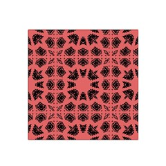 Digital Computer Graphic Seamless Patterned Ornament In A Red Colors For Design Satin Bandana Scarf by Simbadda