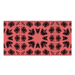 Digital Computer Graphic Seamless Patterned Ornament In A Red Colors For Design Satin Shawl by Simbadda