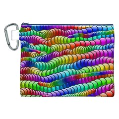 Digitally Created Abstract Rainbow Background Pattern Canvas Cosmetic Bag (xxl) by Simbadda