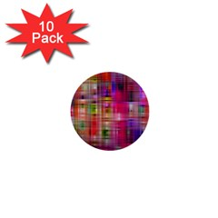 Background Abstract Weave Of Tightly Woven Colors 1  Mini Buttons (10 pack)  by Simbadda