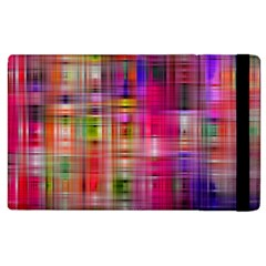 Background Abstract Weave Of Tightly Woven Colors Apple Ipad 2 Flip Case by Simbadda