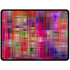 Background Abstract Weave Of Tightly Woven Colors Double Sided Fleece Blanket (large)  by Simbadda