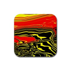 Abstract Clutter Rubber Coaster (square)  by Simbadda