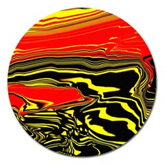 Abstract Clutter Magnet 5  (round) by Simbadda