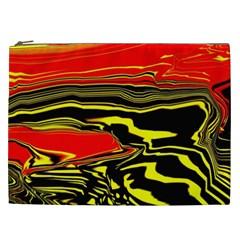 Abstract Clutter Cosmetic Bag (xxl)  by Simbadda