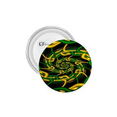 Green Yellow Fractal Vortex In 3d Glass 1 75  Buttons by Simbadda